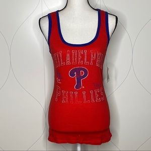 NWT G-III 4Her by Carl Banks Phillies Tank red M